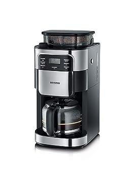 Severin KA 4810 Cafetera con Molinillo Integrado, 1000 W, 1.4 litros, Acero Inoxidable Mate/Negro: Amazon.es: Hogar