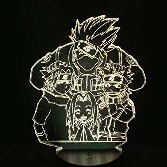 japonesa nocturna Sensor de LED Anime amistad Manga Luz Ib9EWY2eDH