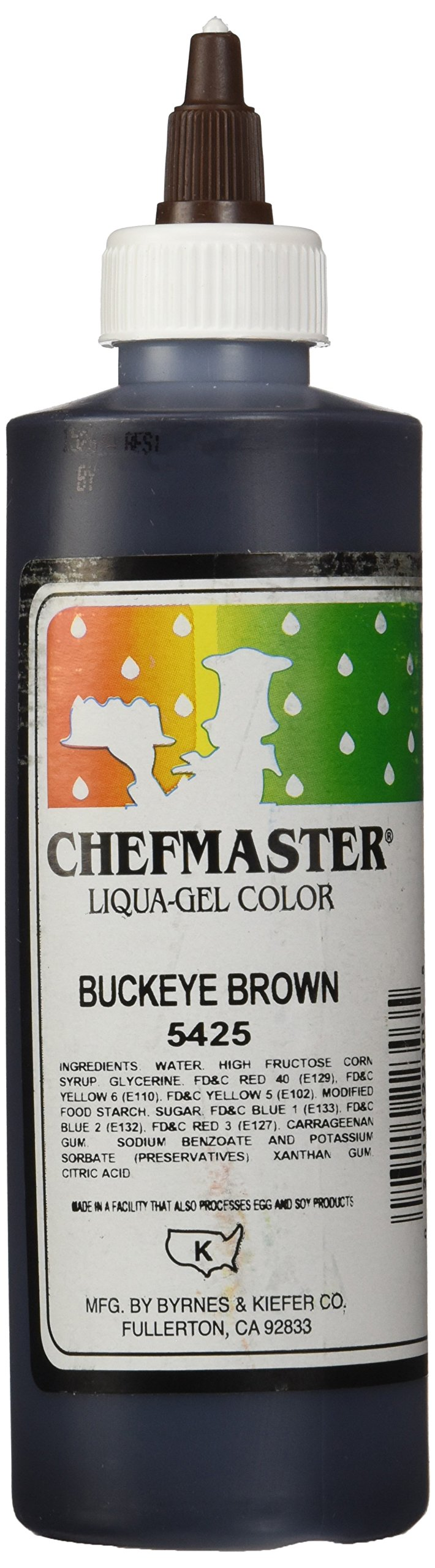Chefmaster Liqua-Gel Food Color, 10.5-Ounce, Brown