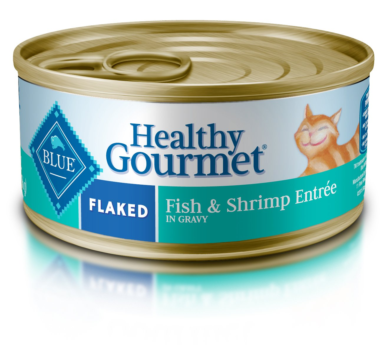 Blue Buffalo Healthy Gourmet Natural Adult Flaked Wet Cat Food, Fish & Shrimp 5.5-oz cans (Pack of 24) by Blue Buffalo