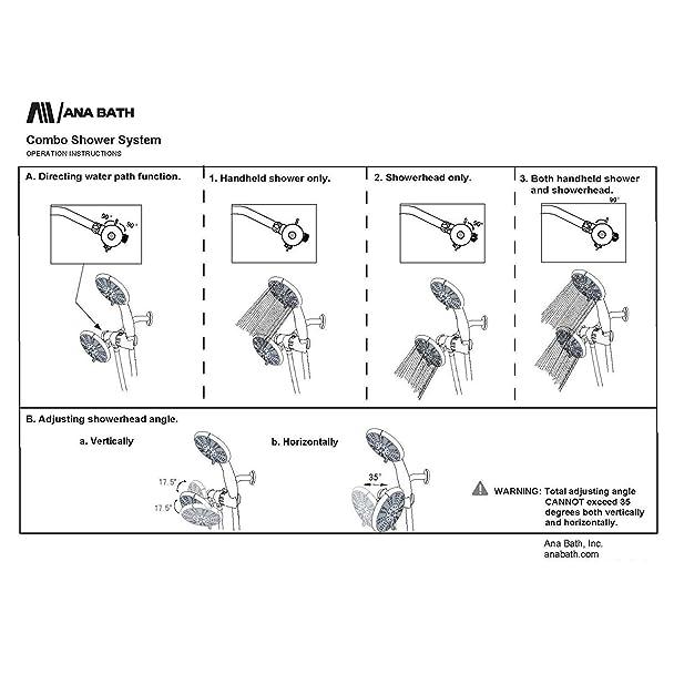 Ana Bath Anti-Clog Spray 5 Inch 5 Function Handheld Shower and ...