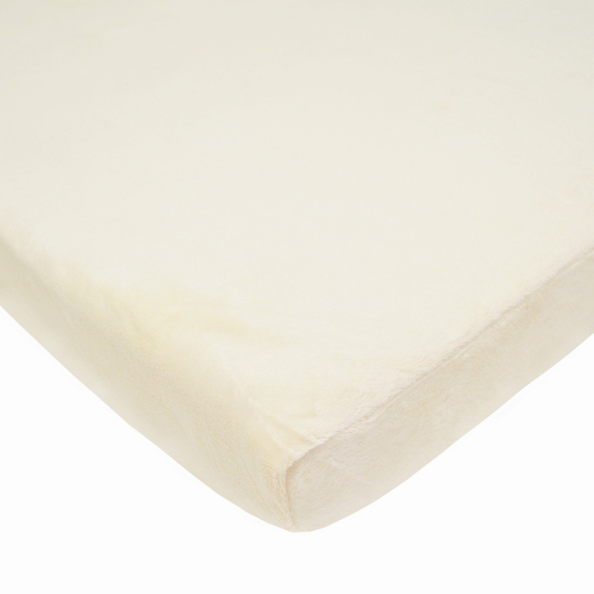 American Baby Company Heavenly Soft Chenille Fitted Bassinet Sheet, Ecru
