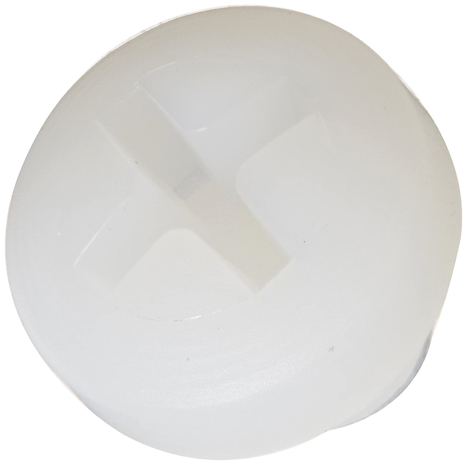 Pack of 100 Fully Threaded #10-32 Thread Size Nylon 6//6 Pan Head Machine Screw Off-White #2 Phillips Drive 1-3//16 Length USA Made