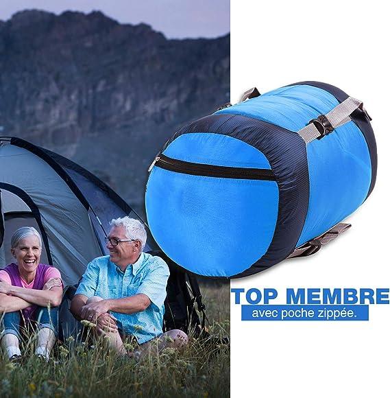 REDCAMP Saco de Dormir Negro M Ideal para mochileros y acampadas L y XL