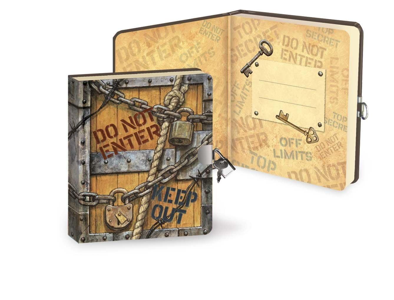 Geheimes Tagebuch - Top Secret - 200 Seiten mit Schloss und Schlüssel - Größe 160mm x 140mm Peaceable Kingdom 4633