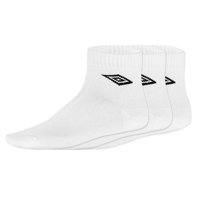 Umbro Pack 3 Pares Calcetines Tobilleros Blanco 40-46: Amazon.es: Ropa y accesorios