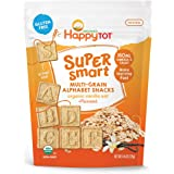 Happy Tot Super Smart Snacks, Organic Toddler Snack, Vanilla Oat + Flaxseed, 4.4 Ounce Bag