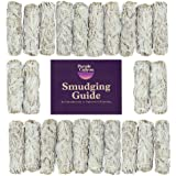 PURPLE CANYON White Sage Bundles Refill Kit - (24 Pack with White String) - Bulk Sage Smudge Stick for Home Cleansing…