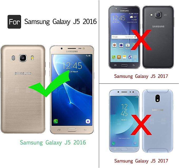 LeYi Compatible with Funda Samsung Galaxy J5 2016 Silicona ...