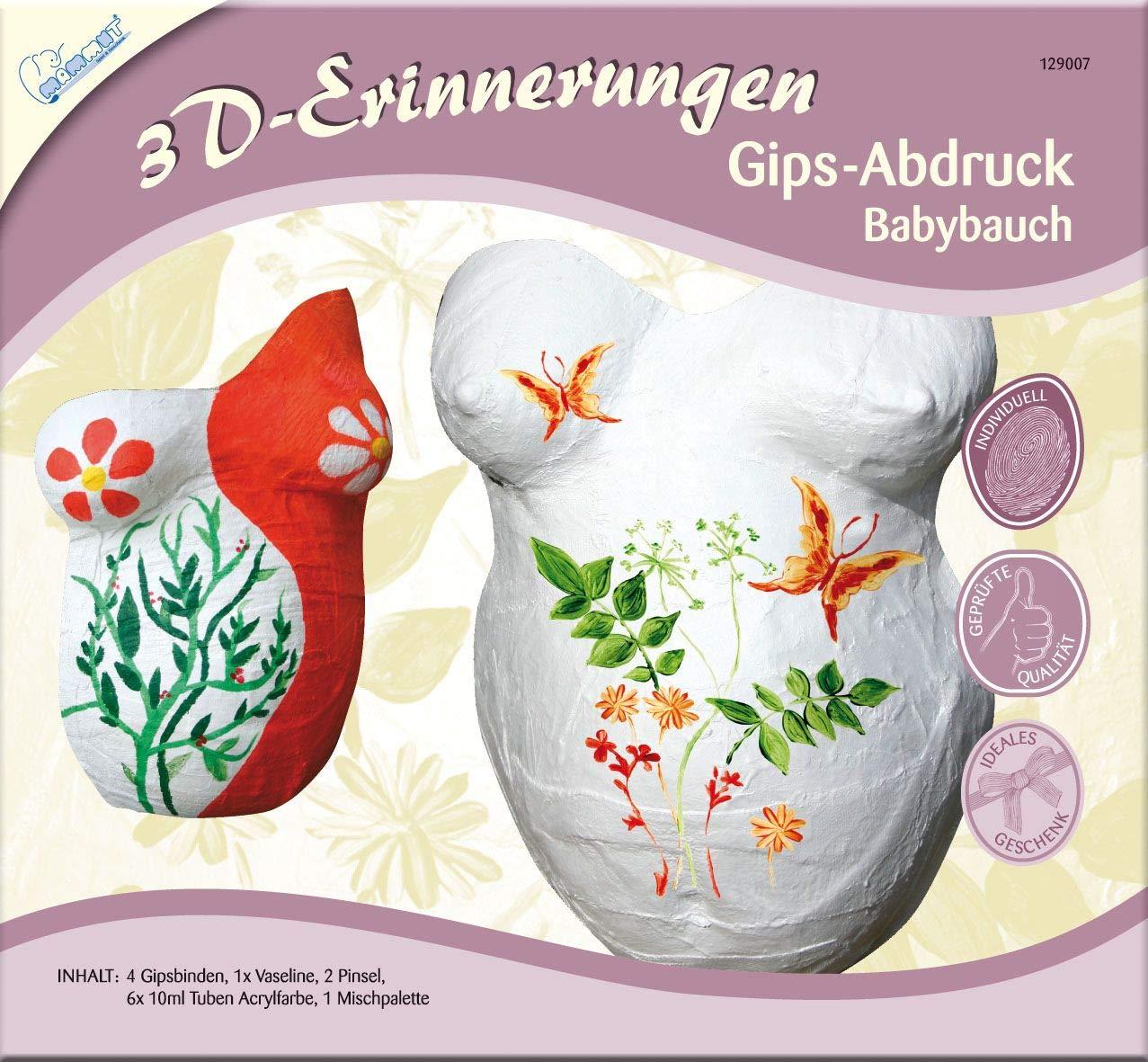Importado de Alemania Yeso para molde en 3D del vientre durante el embarazo Mammut KSE18 3D-Erinnerungen