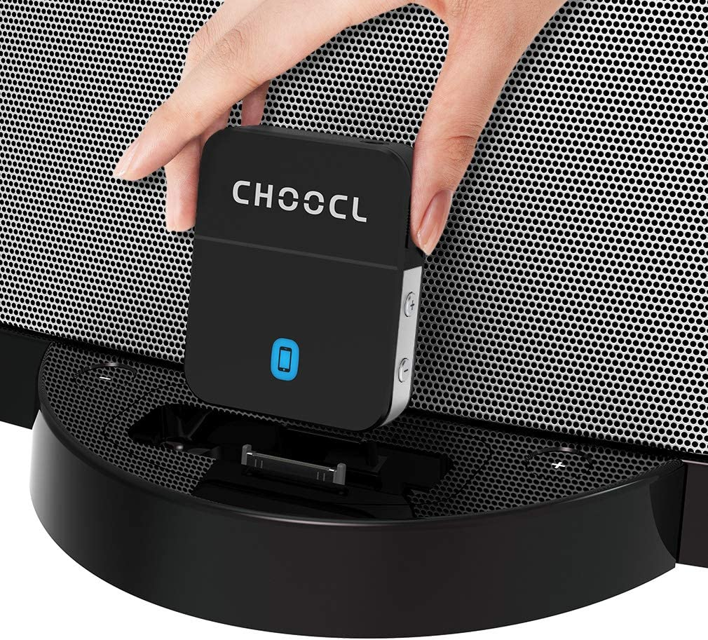 ChooDock 30 pin Bluetooth 5.0 Adapter Receiver for Bose SoundDock and Other iPhone iPod 30 pin Music Docking Station Speakers