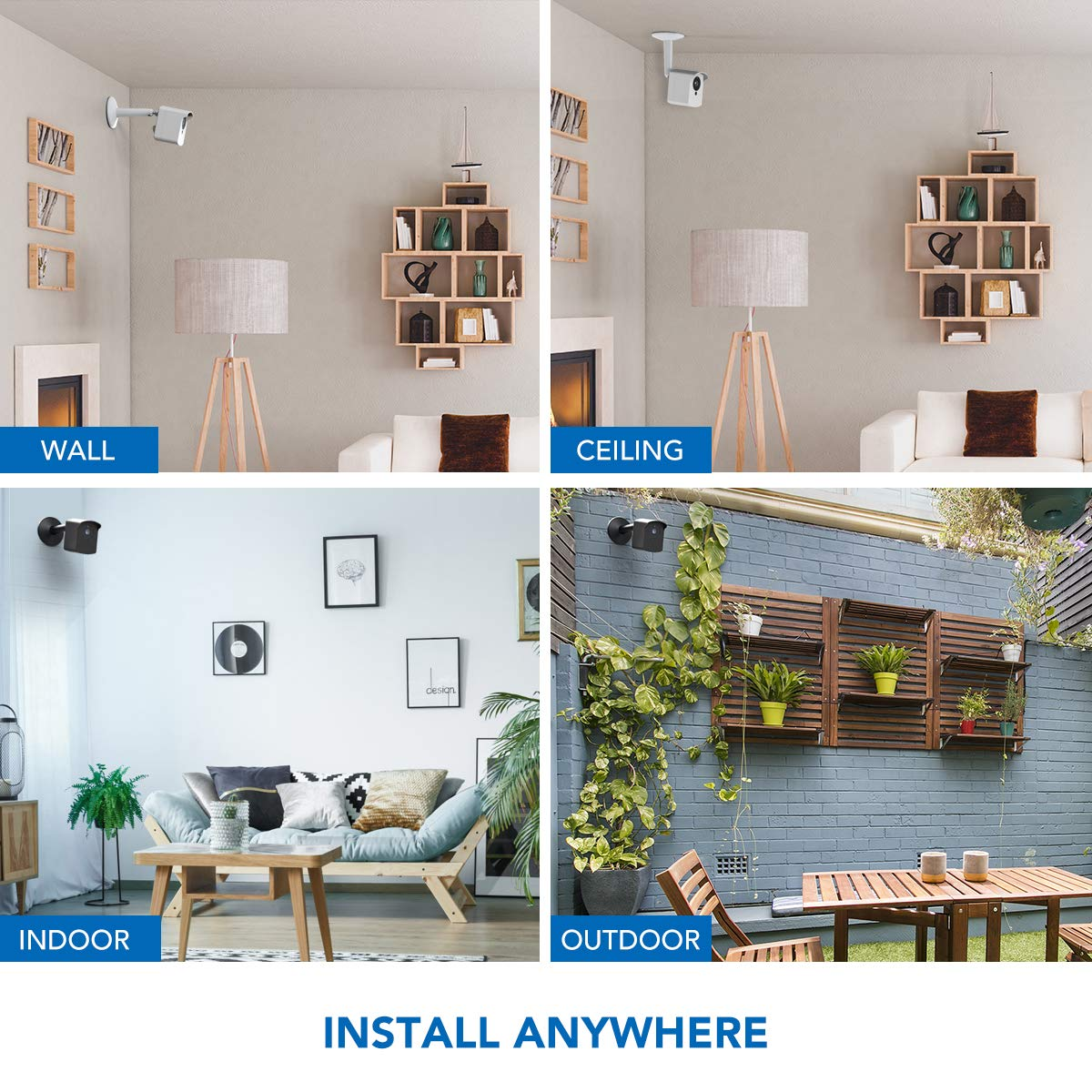 Arlo Pro 2 KIWI design Adjustable Aluminium Alloy Ceiling//Wall Mount for Oculus Sensor 2 Pack, Black Oculus Rift Sensor Mount Arlo Arlo Ultra /& Other Camera Models with 1//4 Inch Thread Arlo Pro
