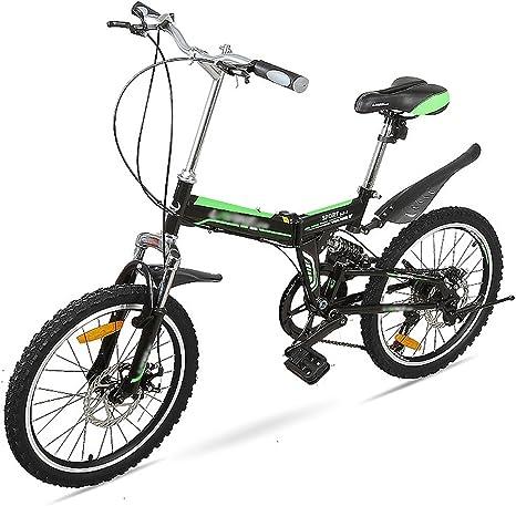 LI SHI XIANG SHOP Bicicleta Plegable 20 Pulgadas Estudiante ...