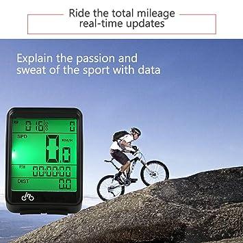 Al aire libre código Medidor Velocímetro inalámbrico de bicicleta ...