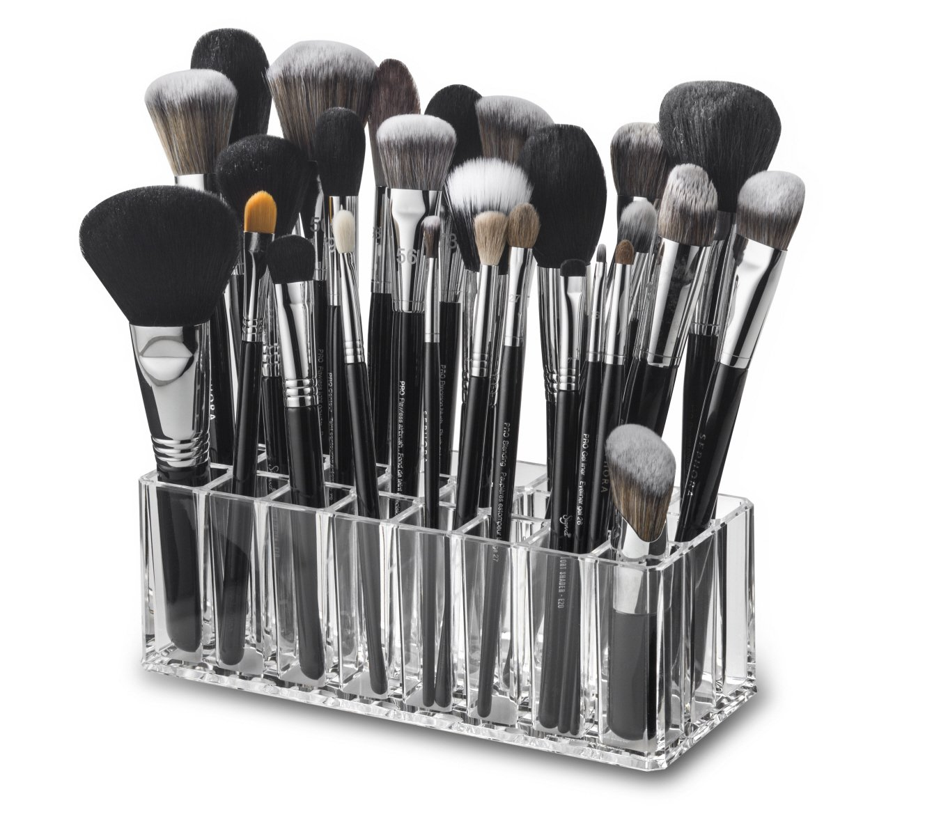 byAlegory Acrylic Makeup Brush Organizer \u0026 Cosmetic Holder