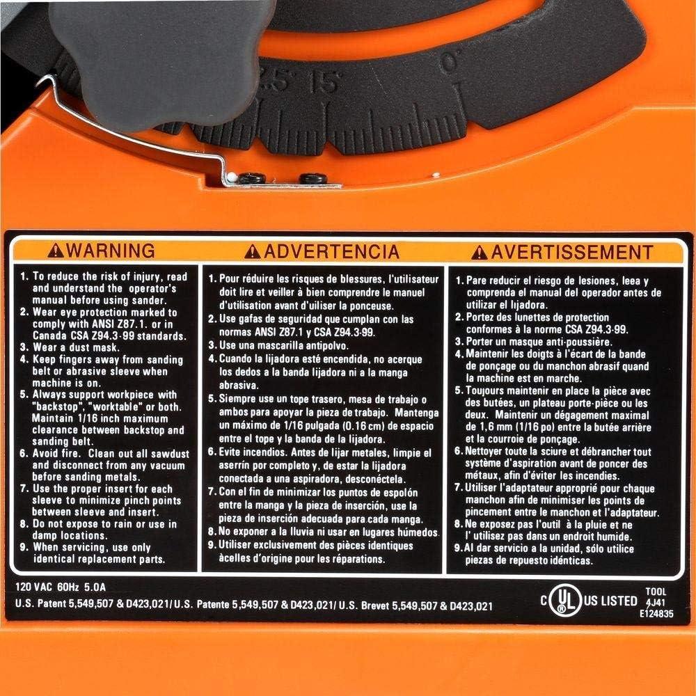 Oscillating//Edge Belt Ridgid EB4424 Sander Certified Refurbished