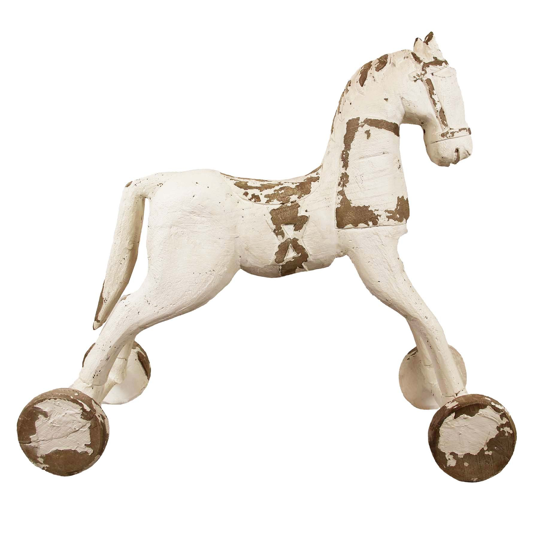 The Wildflower Company 530210 Vintage Rocking Horse Floor Decoration by The Wildflower Company