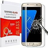 Galaxy S7 Edge Screen Protector,Creativecase S7 Edge Tempered Glass,[9H Hardness][Anti-Scratch][Bubble-Free] HD Clear Tempered Glass Screen Protector for Samsung Galaxy S7 Edge