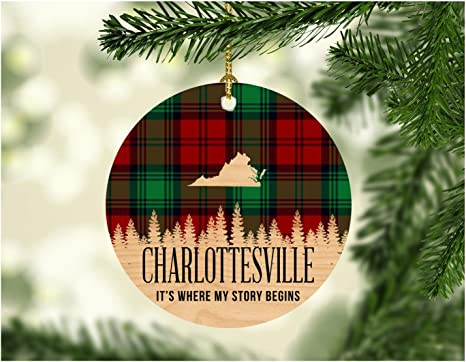 Christmas Free Meal 2021 Charlottesville Amazon Com Christmas Decorations Ornaments 2020 Charlottesville Virginia It S Where My Story Begin Xmas Present Funny Giff For Family New Home Gift Xmas Tree Decoration 3 Flat Holiday Keepsake Kitchen Dining