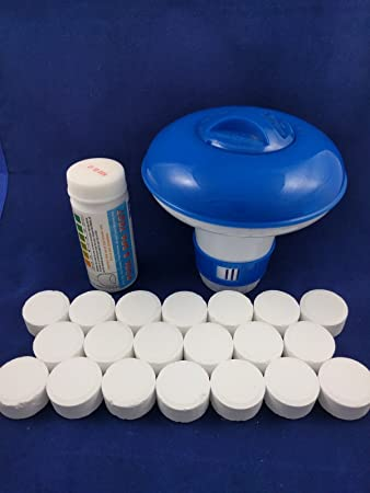 Pastillas de cloro Premier azul para piscina y jacuzzi, 20 x 20 g ...