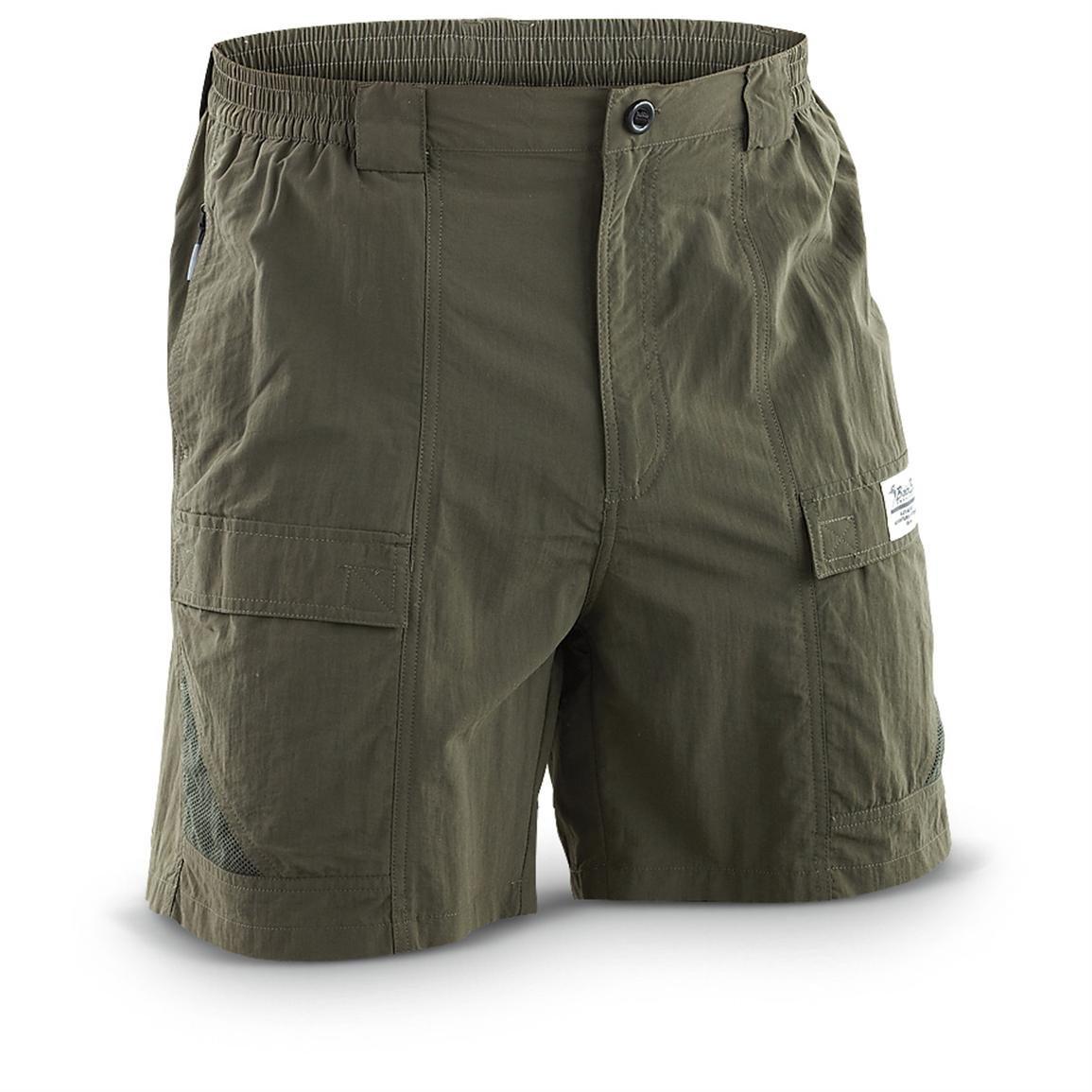 Bimini Bay Outfitters Men's Grand Cayman Nylon Short (2-Pack) (Olive, Medium) by Bimini Bay Outfitters