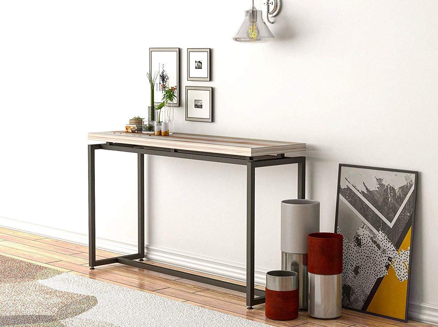 Stimber Design David Console Table, Modern Elegant Slim Design, Entry Table, Table Behind Couch, Space Saving Desk, Narrow Sofa Table, Hallway Table, Couch Table, Industrial Style by Stimber Design