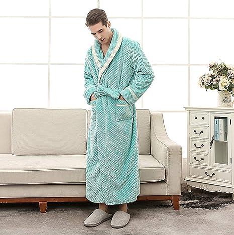 85bbac2b0e KKING Women s Men s Full Length Warm Flannel Robe Plus Size Super Soft