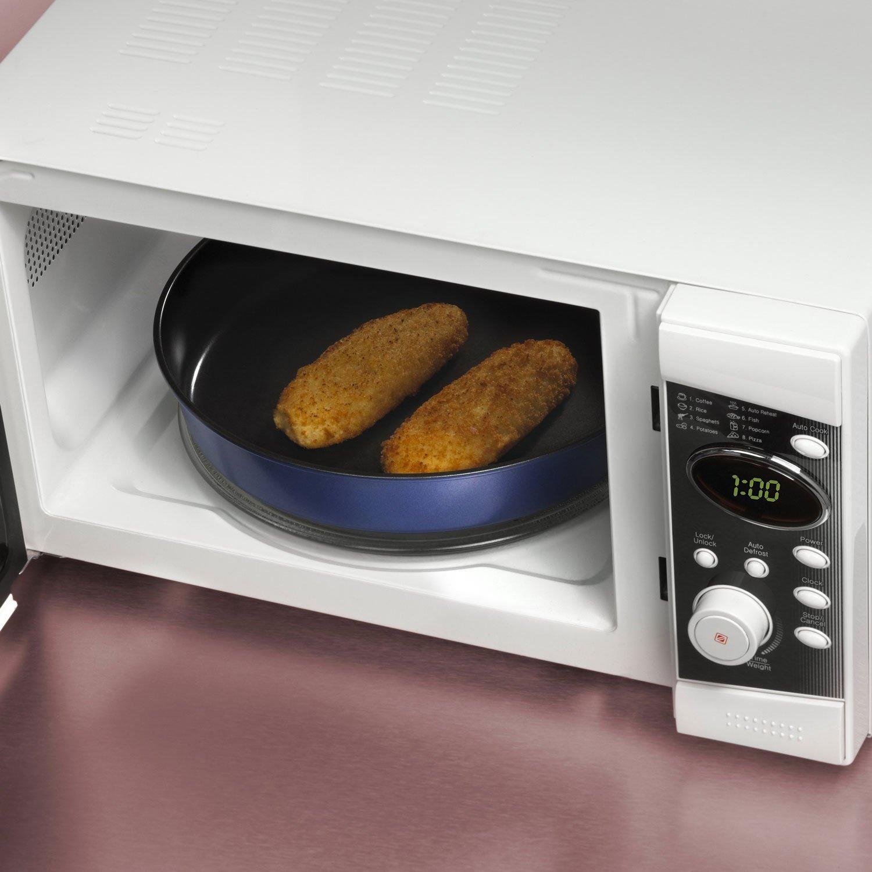 28 cm Blue Pirofila profonda e teglia da forno per microonde Cook /& Brown in una frazione del tempo