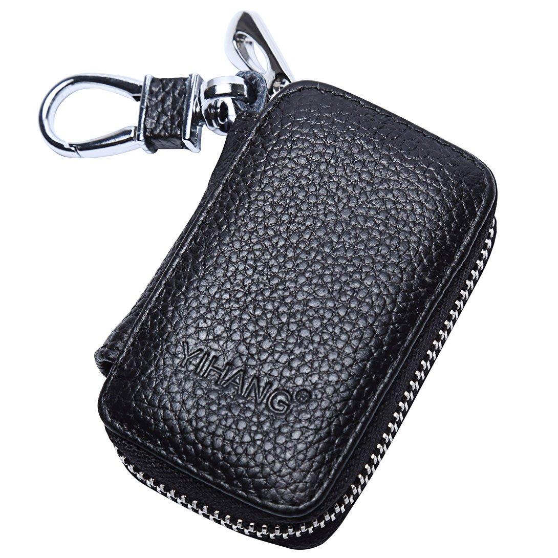 yihang llave del coche caso, piel auténtica coche Smart Key ...