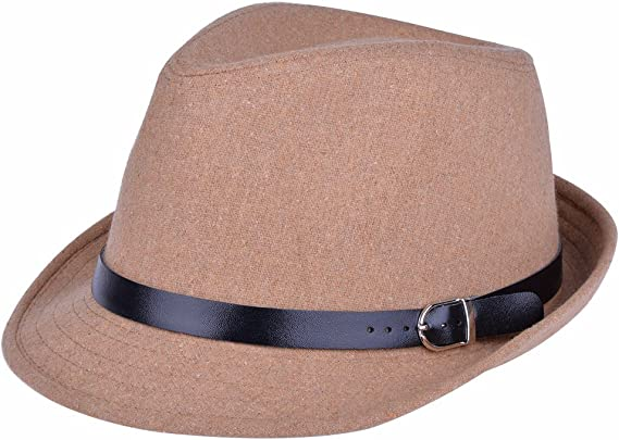 Fedora with Pleated Satin Band Black W18S44D