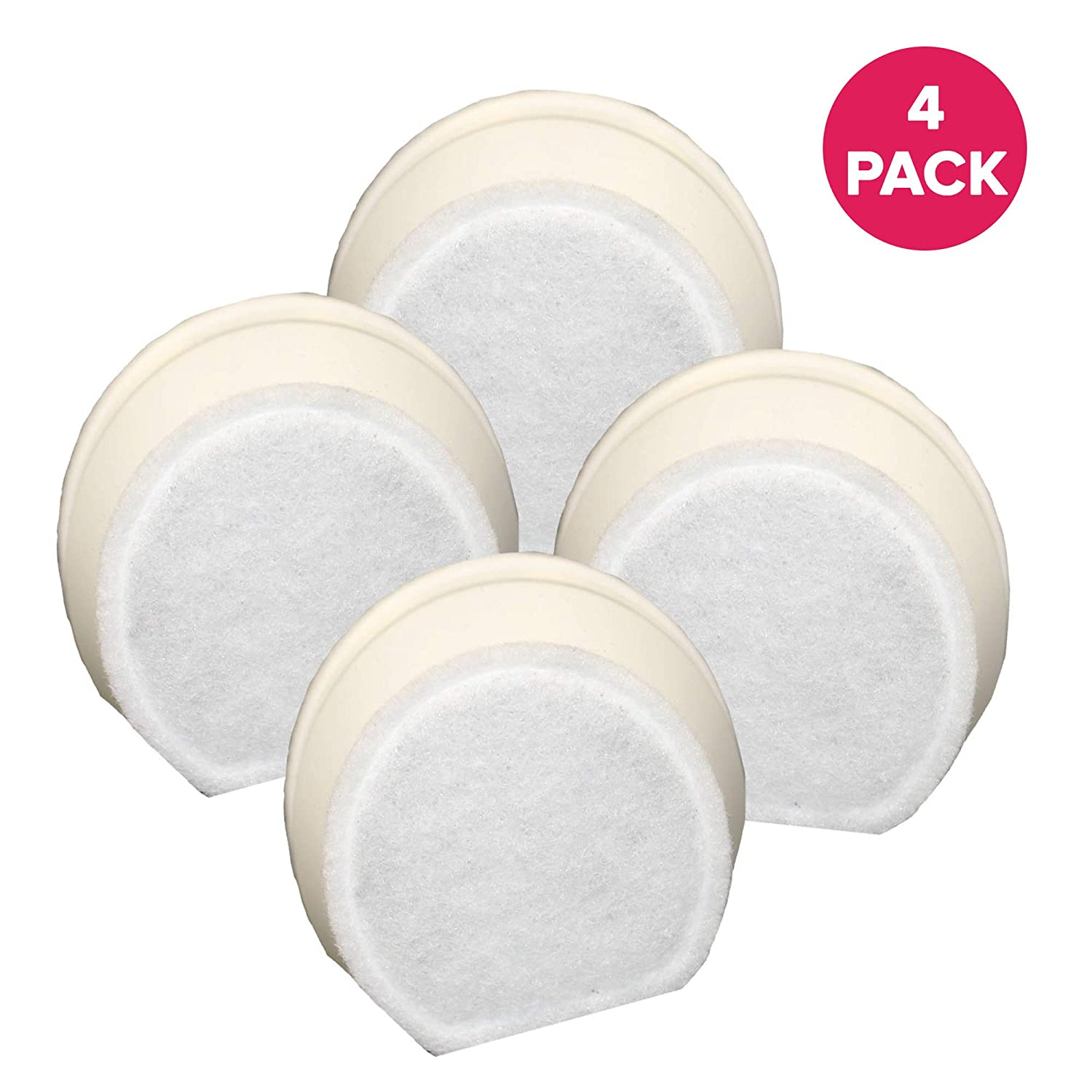 4 Packs Replacement Carbon Filters for Drinkwell Avalon Pagoda Sedona Fountain