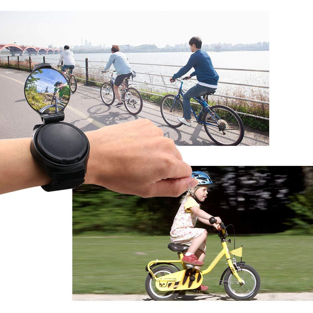 Lepeuxi Specchietto retrovisore ruotabile per Bicicletta da Corsa specchietto retrovisore per Bici da MTB