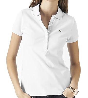 1d0c2e28 Lacoste Women's Stretch Polo Shirt Pique Short Sleeve Ladies Slim Fit Golf  Sport
