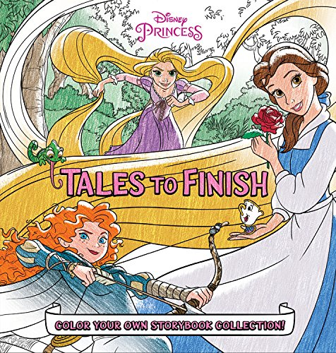 Disney Princess Storybook Collection: Tales to Finish: Color Your Own Storybook (Disney Princess Storybook)