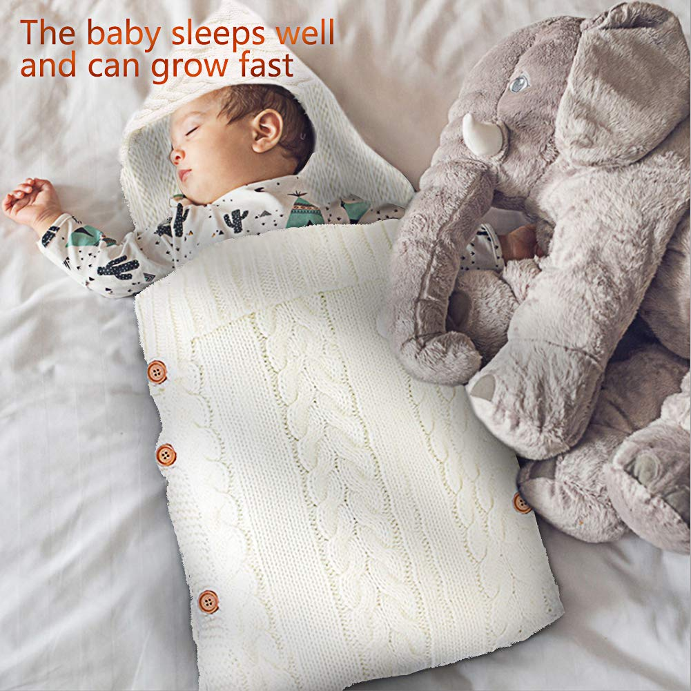 Unisex verstellbare M/ütze Wickeldecke f/ür Neugeborene einfaches Wickeln Kinderwagen gestrickt 6 Monate Babys volle Abdeckung f/ür 0 Schlafsack