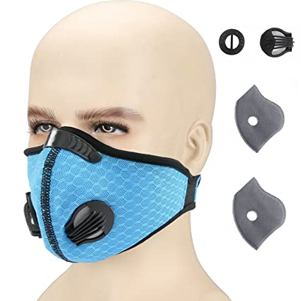 Otato Dust Mask Activated Carbon Dustproof Mask with Earloop Adjustable Velcro, Extra Filter Cotton Sheet