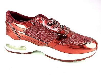 PICCOLI MONELLI Sneakers Donna Scarpe da Passeggio tg 40 Colore Rosso con  Brillantini e Lacci  Amazon.it  Scarpe e borse 1f233f68418