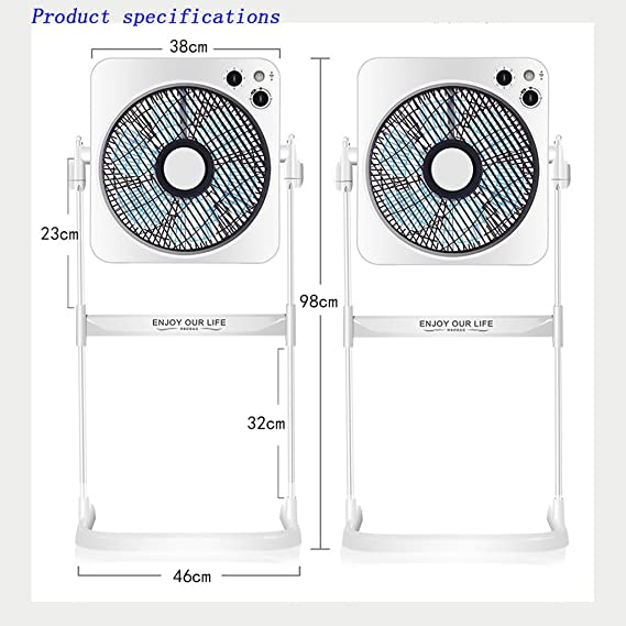 Elektrolüfter ZRNFAN [G05] Heimventilatoren auf Dem Boden Zuglüfter ...