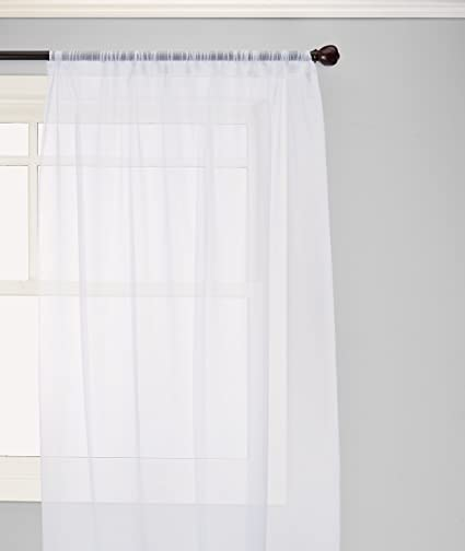 Elegant Comfort Voile84 Window Curtains Sheer Panel With 2 Inch Rod Pocket 60 Width
