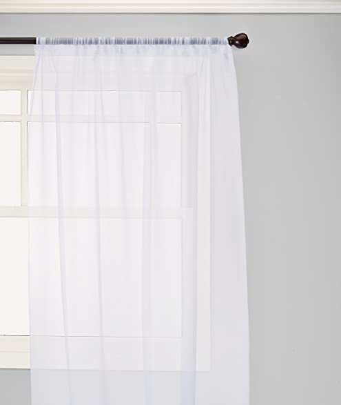 Attractive Elegant Comfort Voile84 Window Curtains Sheer Panel With 2 Inch Rod Pocket,  60 Width