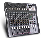 G-MARK MR80S Professional Audio mixer mixing Console 8 channels with MP3 Player +48V Phantom Power USB Bluetooth Reverb for s