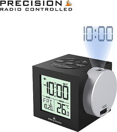 Precision Radio Controlled Projection Alarm Clock Calendar Back Light  AP048