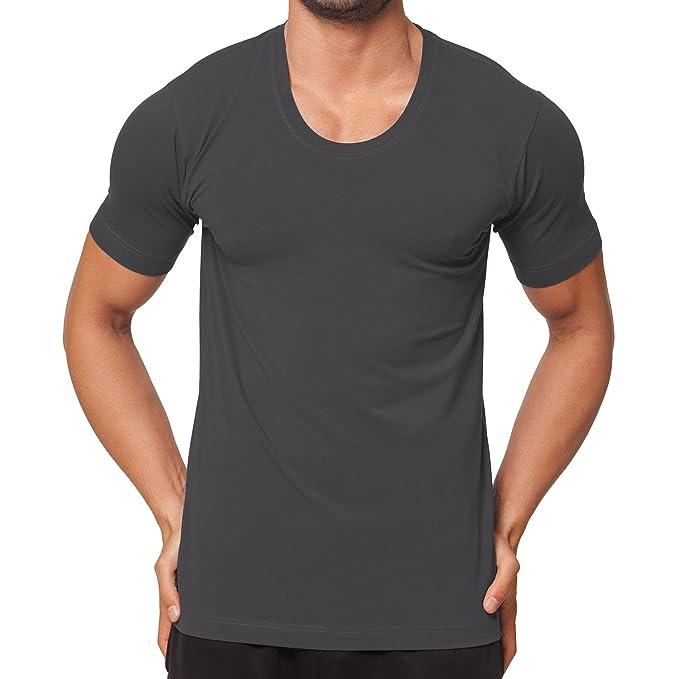 cab0f99e9d3684 CFLEX Herren T-Shirt Business Shirt - feinste Stretchware Größen S-XXL  schwarz weiss anthra blau grau melange  Amazon.de  Bekleidung