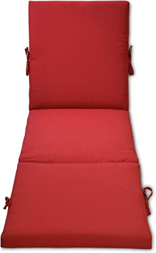 Overstock Outdoor Chaise Cushion Red