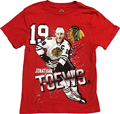 c9715bcec96 Jonathan Toews Chicago Blackhawks #19 Youth Red Name & Number Graphic Logo T  Shirt (