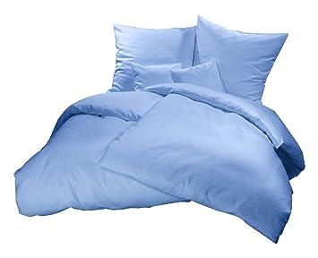 Schönes einfarbiges Mako Satin Bettwäsche Set aus 100 ...