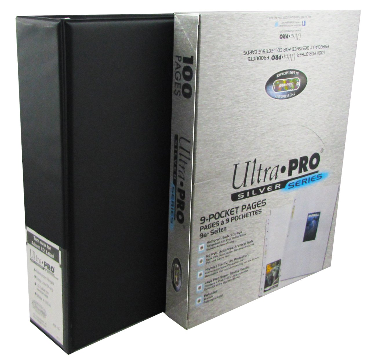 Ultra Pro 3-Ring Binder With Ultra Pro 100 9-pocket Pages! Great for Protecting Your CCG and TCG Cards - Pokemon - Magic the Gathering - Yugioh and More!