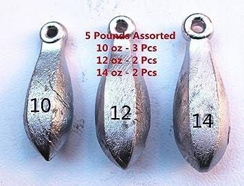 bulk buy Qty 24 = 4oz Bank Sinkers Drop Fishing Weights Deep Sea