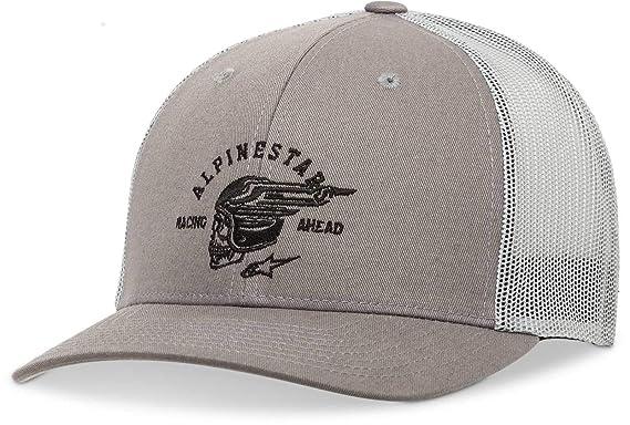 Amazon.com  Alpinestars Men s Logo Flexfit hat Curved Bill Trucker ... b64daaf748a