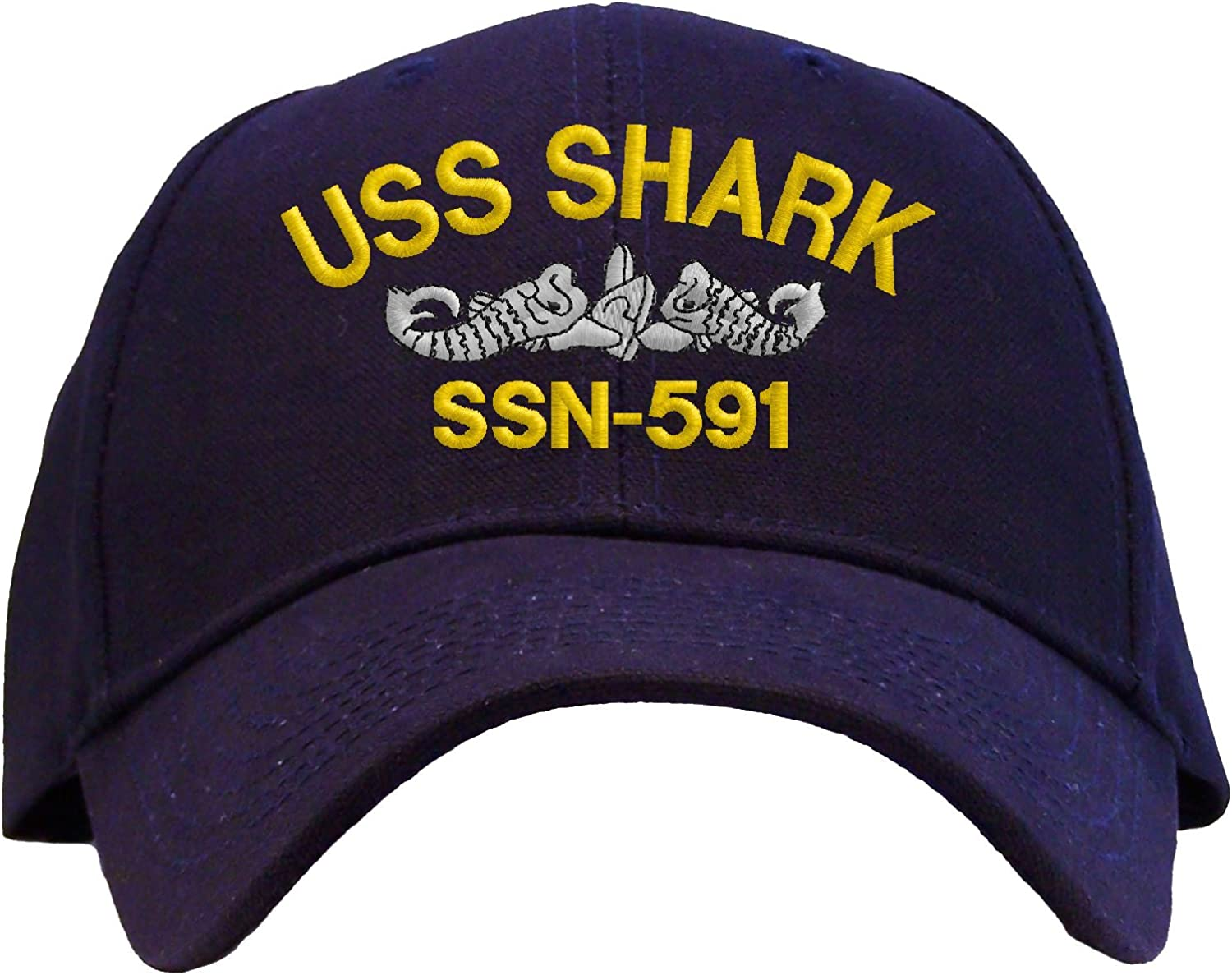 Spiffy Custom Gifts USS Shark SSN-591 Embroidered Pro Sport Baseball Cap